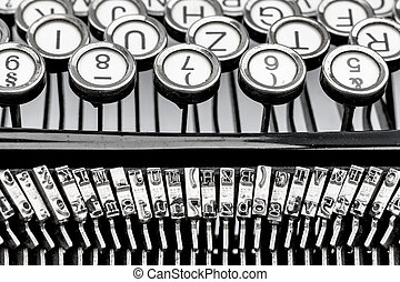 a typewriter keyboard - keys of an old typewriter photo icon...