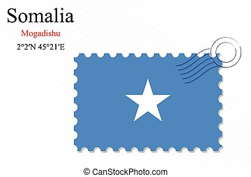 somalia stamp design over stripy background, abstract vector...