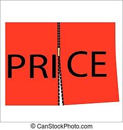 Cut price concept