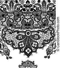 paisley lace graphic design illustration