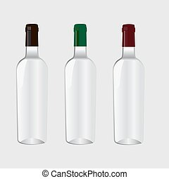 Bottle for wine. Muck up - Bottle for wine. For your design