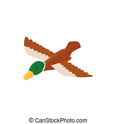 Duck decoy isometric 3d icon on a white background
