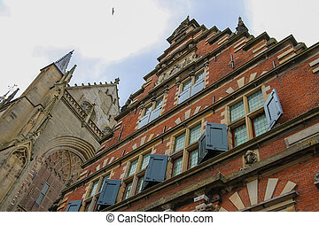 The Vleeshal (meat-hall) at the Grote Markt in Haarlem. The...