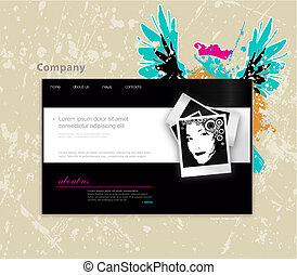 Website template with photo Vector art