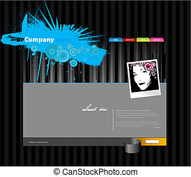 Website template with stripes.