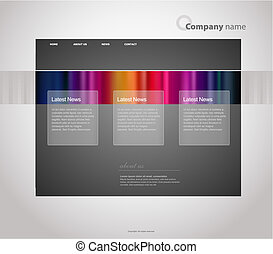 Website template with stripes