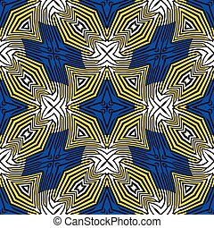 blue and yellow stripes pattern, abstract seamless texture,...