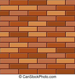 Seamless Old Brick Wall Pattern. Vector