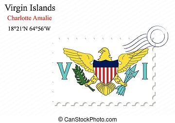 virgin islands stamp design over stripy background, abstract...