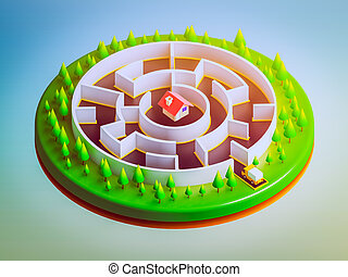 Cars are about to enter the maze The goal is to stay ahead