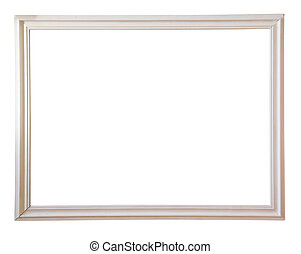 white picture frame - Modern white picture frame, isolated...