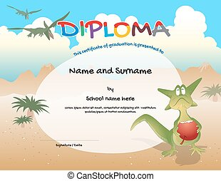 Kindergarten certificate template for preschool graduation course completion