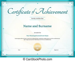 Certificate of achievement template in vector for...