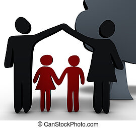 Family - This picture symbolizes the concept of an intact...