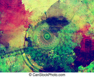urban colorful background