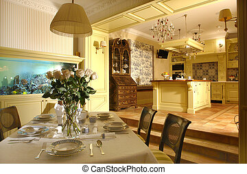 interior of a dinning room - interior of a dinning room...