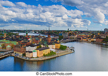 View of Stockholm from above - View of Stockholm from the...