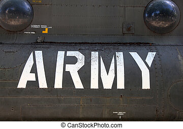 US Army Helicopter Detail - Detail of the side of a USA Army...
