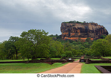 Sigiriya - Way to renowned rock Sigiriya in Sri Lanka