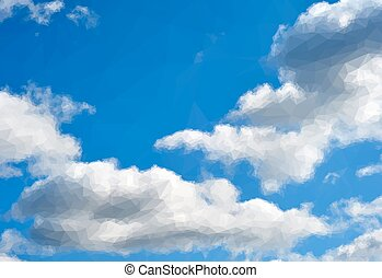 Blue Sky with White Clouds - Blue Daytime Sky with White...