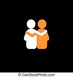 friends hug each other, deep relationship and bonding -...