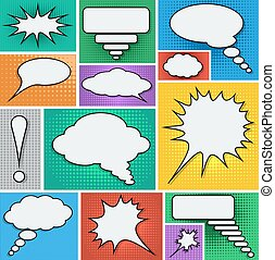 Comic speech bubbles set.