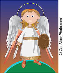 Guardian Angel - Guardian angel standing on protection