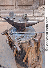 Vintage Metal Smith Tools - Photo Picture of Old Vintage...