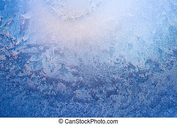 Abstract ice on window - Abstract ice pattern on winter...