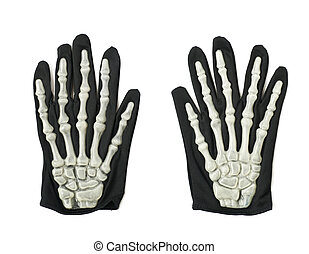 Skeleton hand glove isolated - Skeleton hand glove as a part...