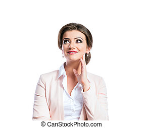 Attractive young businesswoman - Attractive young business...