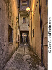 old alley in Guardiagrele, Abruzzo, Italy