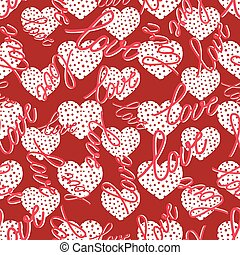 pattern with hearts seamless