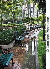 Park after rain. - Bangkok, Thailand.Park after rain.