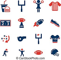 American football simply icons