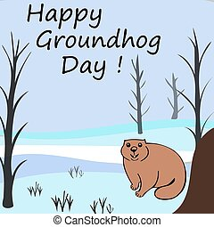 Happy Groundhog day Marmots emerged from burrows
