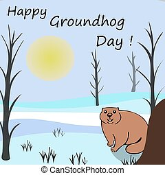 Happy Groundhog day. Marmots emerged from burrows