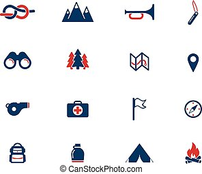 Boy scout simply icons - Boy scout simply symbol for web...
