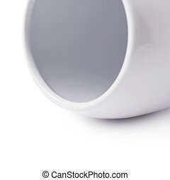 White glazed ceramic cup isolated - White glazed ceramic cup...