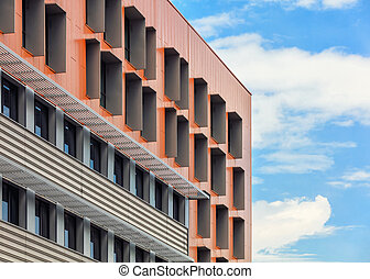 Abstract architectural background - Abstract view of modern...