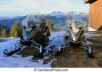 Emergency Services Snowmobiles in Courchevel - Snowmobile...