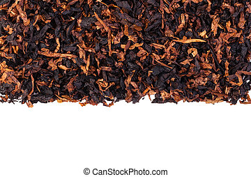 dried smoking tobacco Isolated on a white background