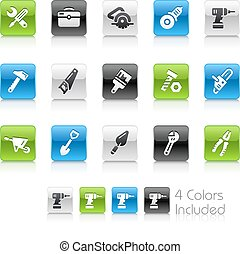 Tools Icons - The vector file Includes 4 color versions in...