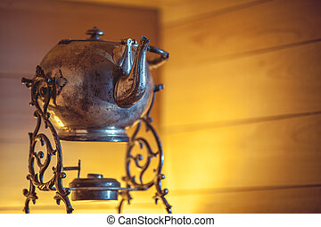 samovar on the table