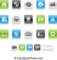 Web Developer Icons - The vector file Includes 4 color...