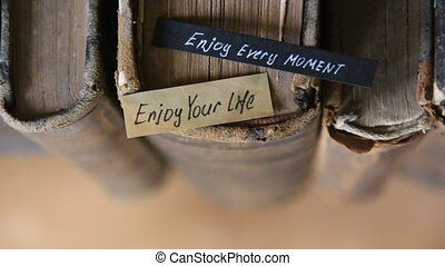 Enjoy every moment and Enjoy your life text - Enjoy every...
