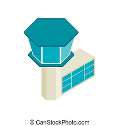 Control tower airport isometric 3d icon - Control tower in...