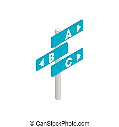 Airport direction isometric 3d icon - Signs in airport...