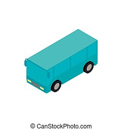Bus airport isometric 3d icon isolated on a white background
