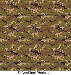Camouflage Multi Seamless Tile Pattern - Camouflage Uniform...